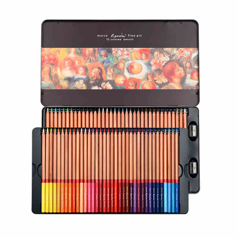 Lápiz De Color 24/36/48/72/100/120 Colores lapislázuli De CDR aceite De Color lápiz...