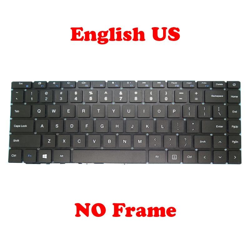 لوحة مفاتيح الكمبيوتر المحمول الولايات المتحدة لشركة تغذية F7 برو MB3081006 93-149 الإنجليزية الولايات المتحدة (ESC مفتاح طويل) أسود لا الإطار
