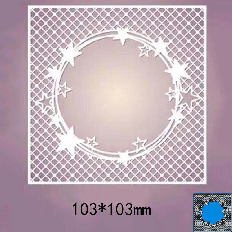 103*103mm star circle frame new Metal Cutting Dies for decoration card DIY Scrapbooking stencil Paper Craft Album template Dies