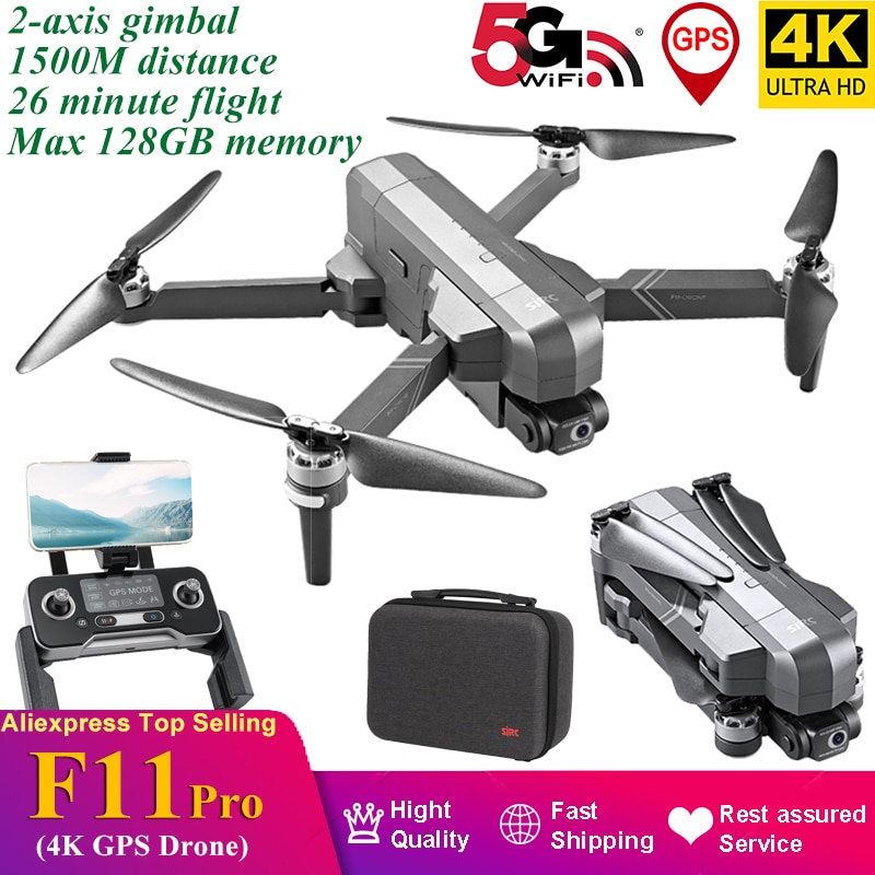 2021 F11 PRO 4K GPS Drone 2 Axis Gimbal EIS Electronic Anti-shake 1500M Brushless Quadcopter Support 128GB Vs SG906 Max Pro2 M1