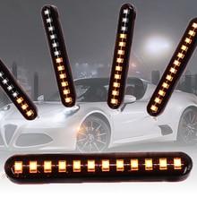 Ambre clignotant lampe lumières 2835SMD 6W 80*12*7.4mm 12LED 3000K moto voitures plaque dimmatriculation