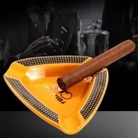 cigar ashtray personalized creative triangle bone china three slot ashtray gift box