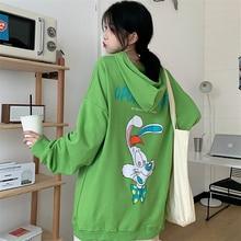 Chic Hong Kong Best-Selling Sweatshirt Women's Spring Autumn Fashion Ins Korean Loose BF Idle Style