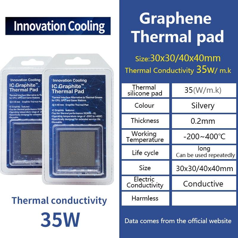Инновационная охлаждающая графическая теплопроводность силиконовая прокладка 35 Вт Тепловая прокладка для ЦП/PS4 видеокарты материнской пл...