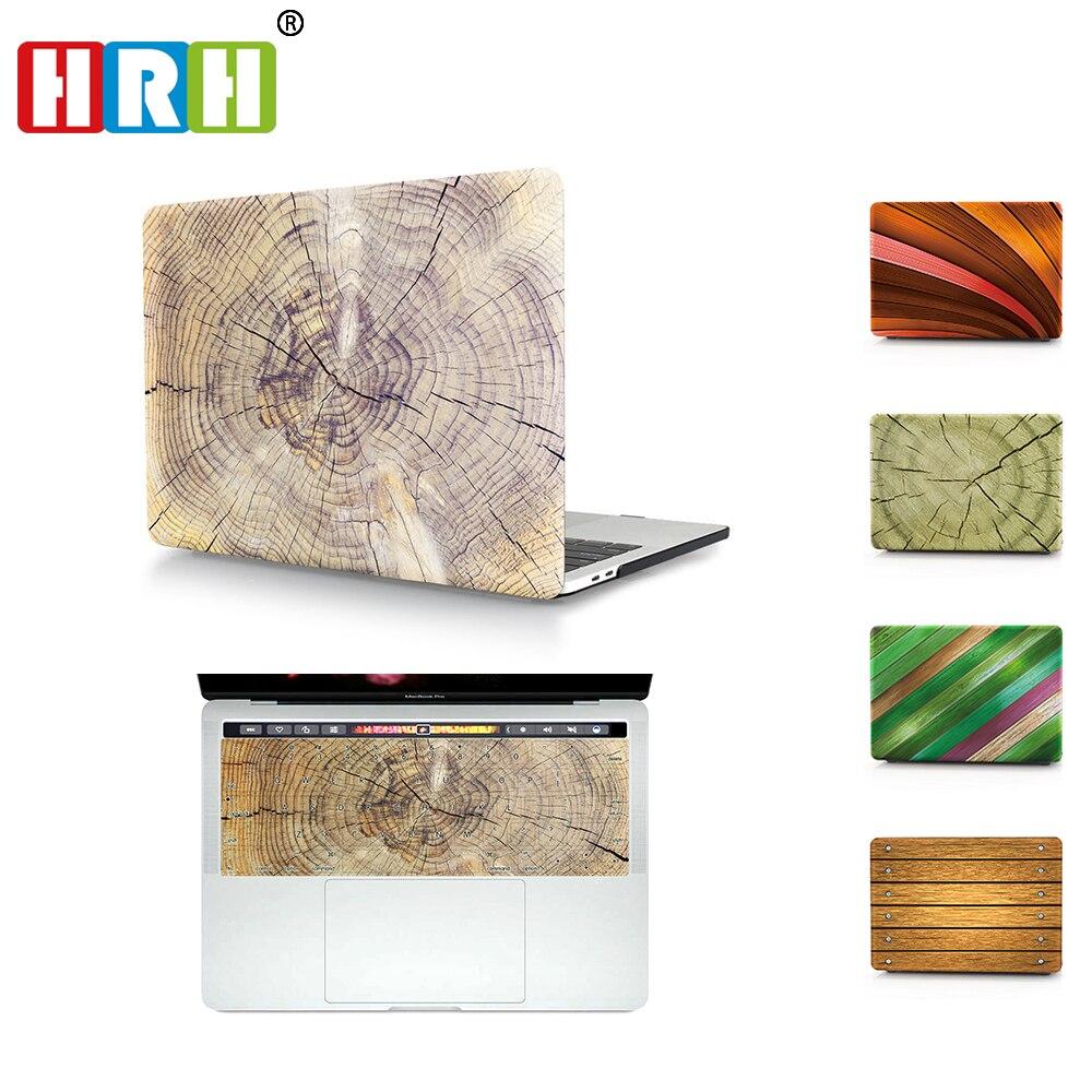 Su Alteza Real 2In1 de grano de madera portátil funda carcasa rígida cubierta para teclado Mac aire Retina Pro 11 12 13 15 A1706 A1707 A2159 A2289 A2251