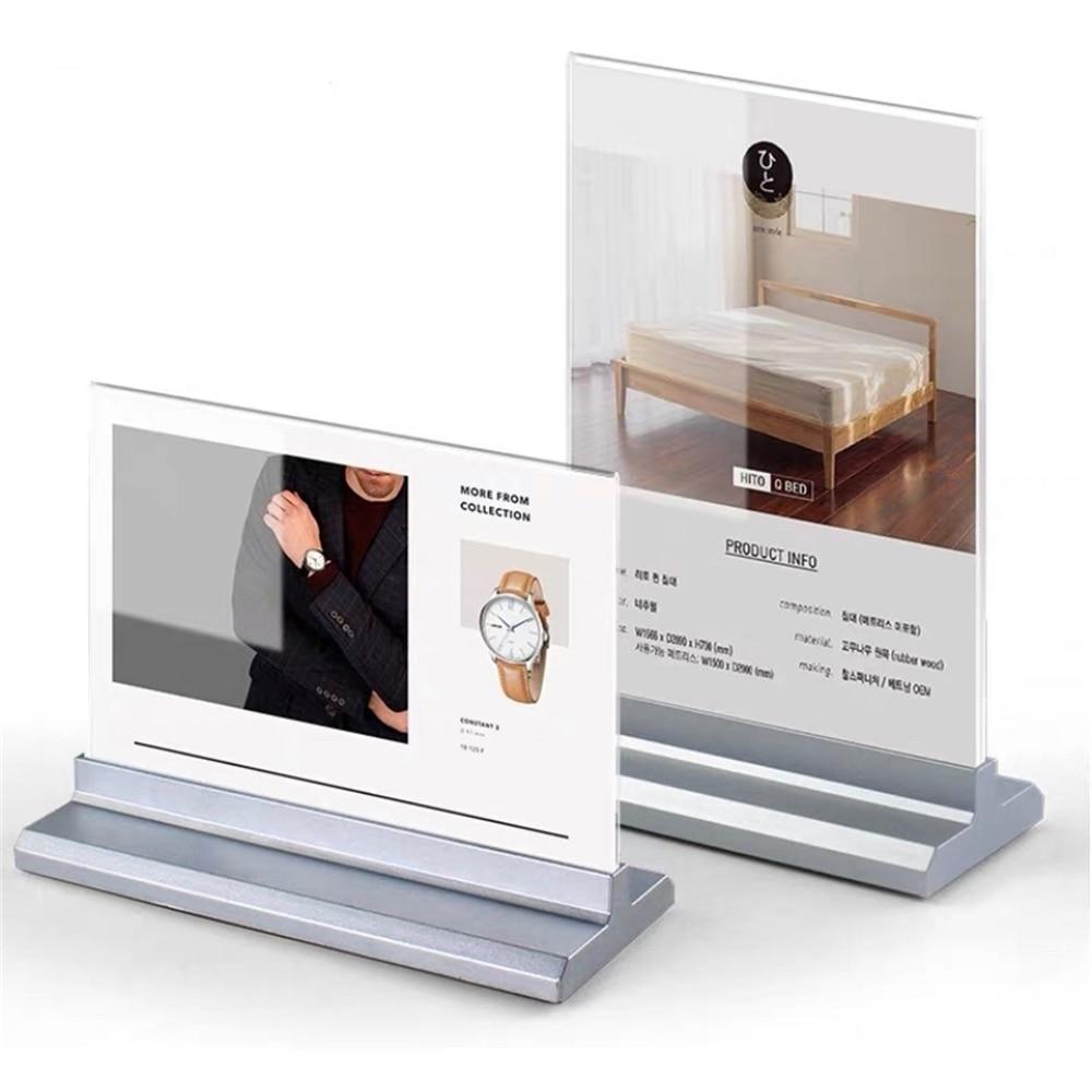 Акриловая подставка для дисплея A6 A5, настольная полка, подставка для витрин и карт, офисный деловой держатель для постера