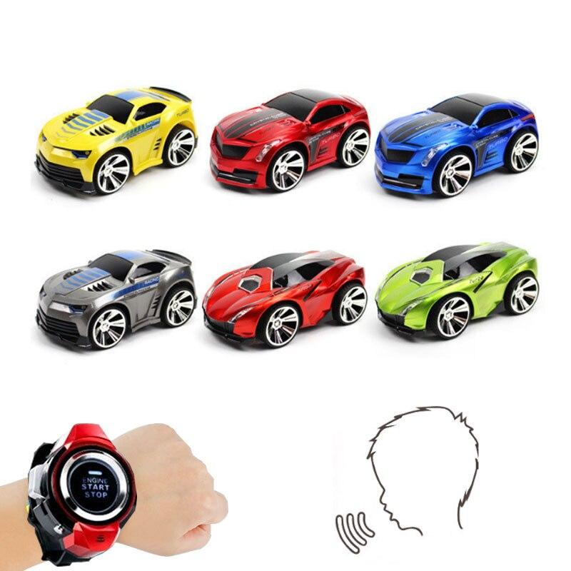 Velocidad 2,4G Smart Watch RC Car Voice Command mando a distancia Racer juegos competitivos juguete para niños Potencia Bicicleta Carretera
