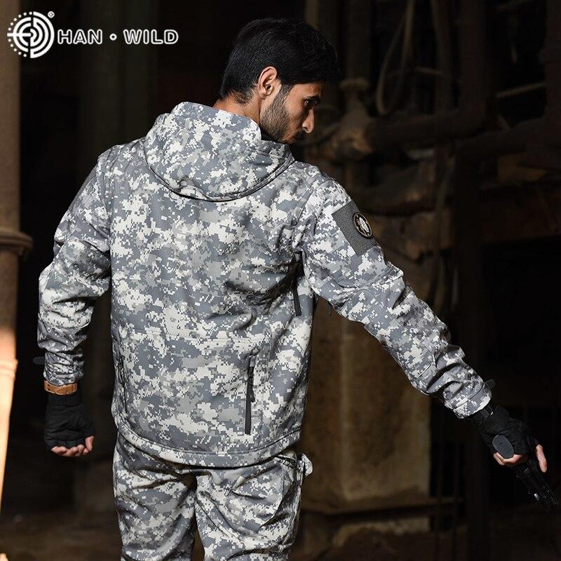 Купить с кэшбэком TAD Shark Skin Hunting Army Jacket Pants Shirts Camping Suits Waterproof Windproof Jackets Softshell Military Uniform Clothes