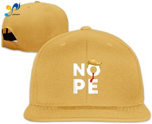 Yellowpods Nope I Anti Trump Men's Relaxed Medium Profile Adjustable Baseball Cap