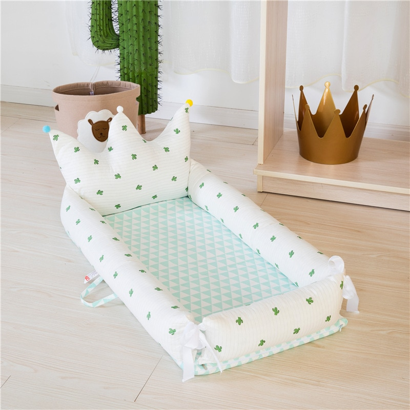 Baby Portable Bed In The Bed Removable And Washable Style Crown Newborn Bionic Bed Baby Room Decor