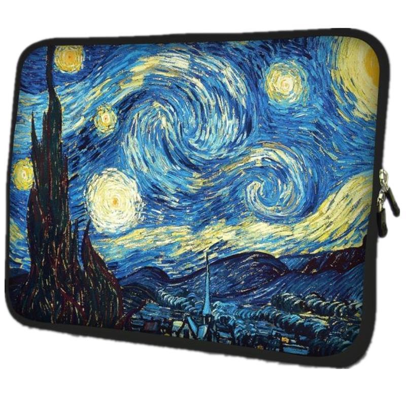 Van Gogh Vila Suave Netbook Laptop Sleeve Case Bag Bolsa Para Apple Macbook Air/Pro Retina 10 13 13.3 15.4 15.6 17.3 17.4 polegada