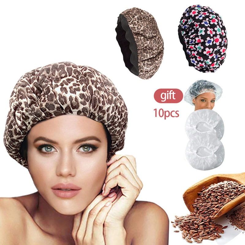 Flaxseed Baked Oil Care Heating Cap Hair Mask microwavable hot head thermal heat Drying hat steamer beauty tools Convenient home kerlon rong sheng meiling xinfei of beauty rongshida little swan haier refrigerator thermal head sensor