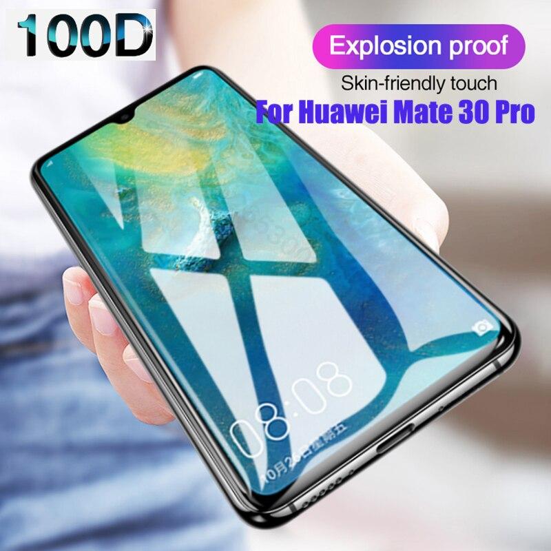 Cubierta completa de vidrio templado para Huawei Mate 30 Pro 20 Lite funda protectora de pantalla de vidrio para Huawei Mate 30 20Pro 30 Lite