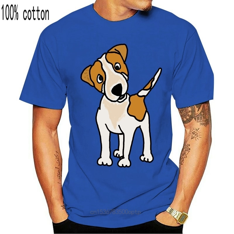 New THE Cool Funny Puppy Jack Russell Terrier Dog Top quality Cotton Fashion print men tshirt cool funny men tee shirts tops 202