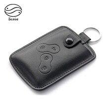 Porte-clés couvercle de clé en cuir pour hommes   Pour Renault Koleos, CAPTUR 2012 2015, 2016 porte-clés de voiture