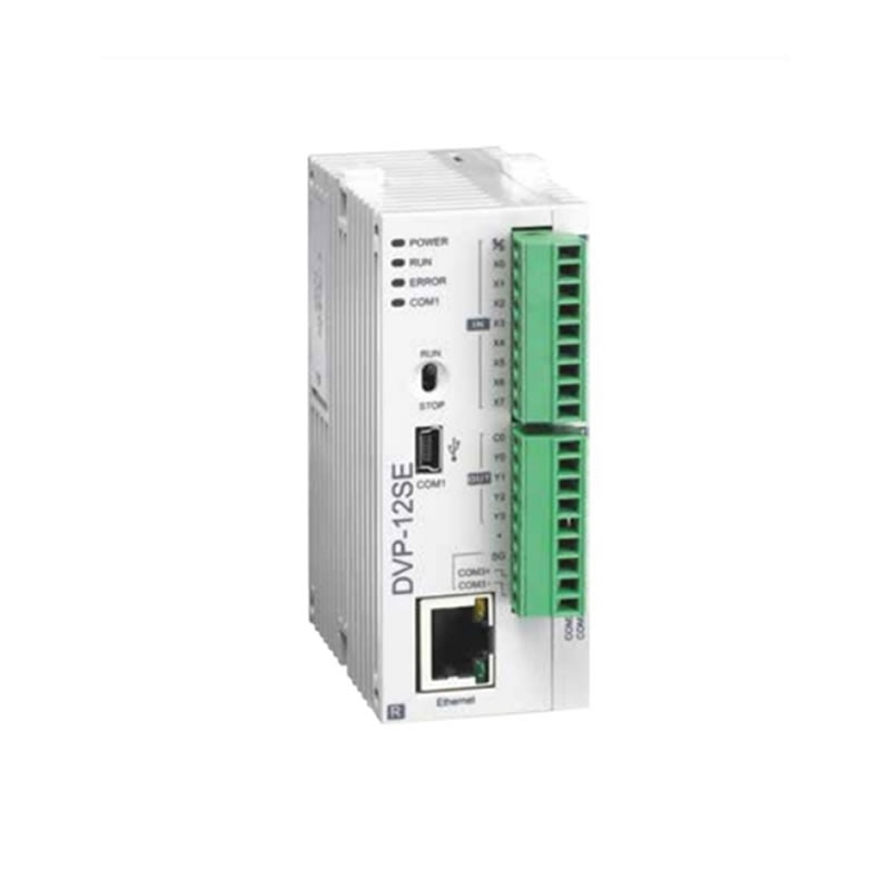 Delta serie SE PLC controlador programable DVP12SE11R DVP12SE11T transistor NPN 8DI 4DO 3 COM Mini USB/RS485x2/Ethernet