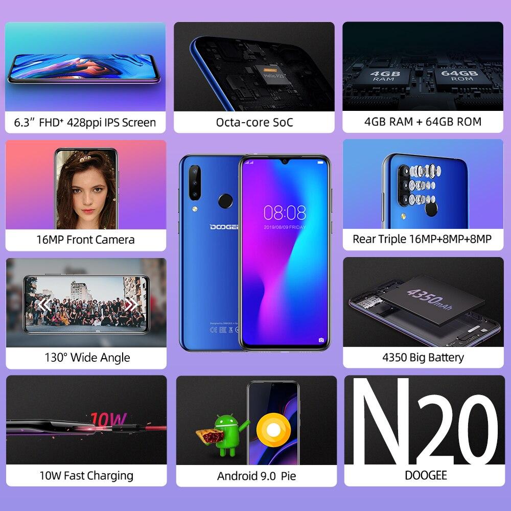 Doogee N20 4G Smartphone 6.3