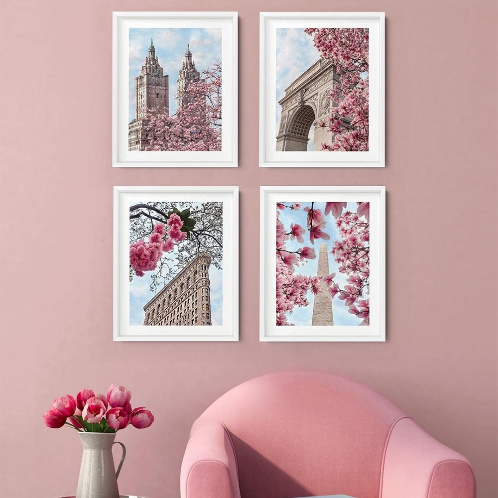 New York City Spring Blossoms Poster Wall Art Canvas Painting Nordic Posters And Prints Pictures For Living Room Home Decor