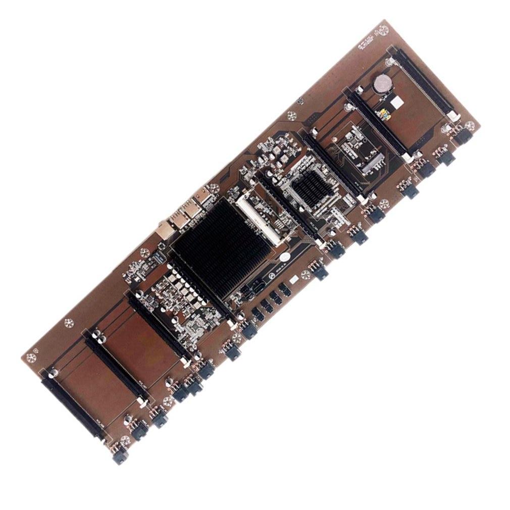 الإدراج المباشر HM65 BTC آلة استخراج المعادن اللوحة وحدة المعالجة المركزية مجموعة 8 بطاقة جرافيكس تباعد كبير تبديد الحرارة جيدة