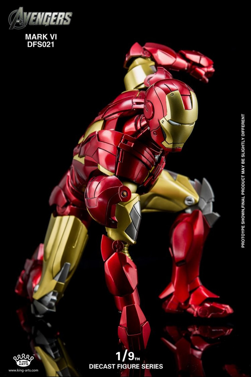 Figura de acción del rey Arts KA DFS064 de gran calidad, máquina de guerra 1/9, modelo CON CAJA original, marca MK1, Iron Man MK6