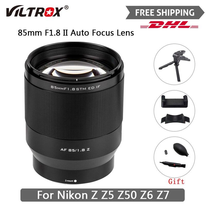 Viltrox 85 مللي متر F1.8 لكاميرا نيكون Z جبل التركيز التلقائي كامل الإطار الثابتة صورة عدسة مثل نيكون Z5 Z50 Z6 Z7 Z6II شحن مجاني