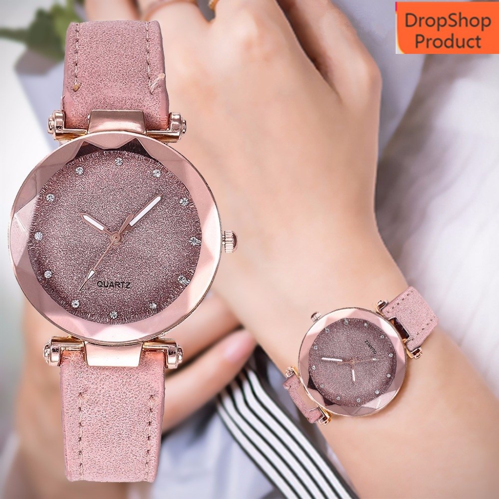Women Watch Ladies fashion Korean Rhinestone Rose Gold Quartz Watch Female Belt Watch reloj de mujer clock Dress 2020 Gift Q