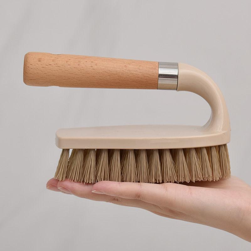 Wooden Cleaning Brush Multifunctional Log Color Shoe Washing Laundry Cleaning Brush Bathroom Floor Decontamination Brush