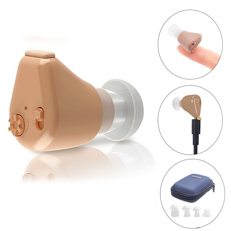 Audífonos recargables, amplificador de sonido Invisible, audífono, auditivo para sordos minidispositivo/ancianos