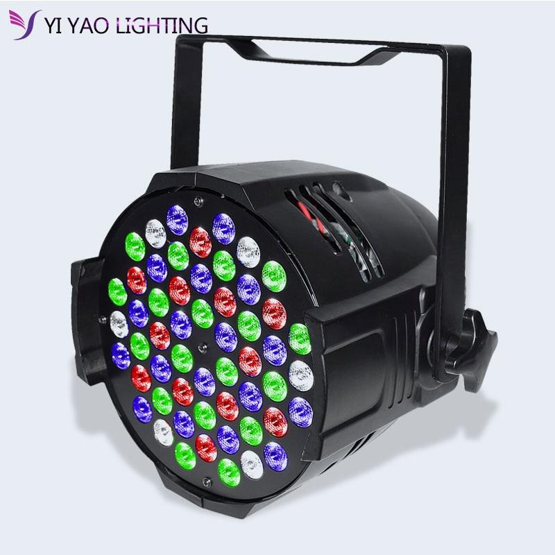 2018 LED de aleación de aluminio Par 54x3W RGBW DMX luces de escenario con DJ Profesional