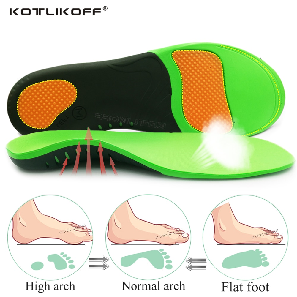KOTLIKOFF EVA Orthopedic Shoes Sole Insole For Feet  X/O Type Leg Correction Arch Foot Pad Flat Foot Arch Support Shoes Inserts 1 pair flat feet arch support insole silica orthotics superier breathable latex leather insole foot pad