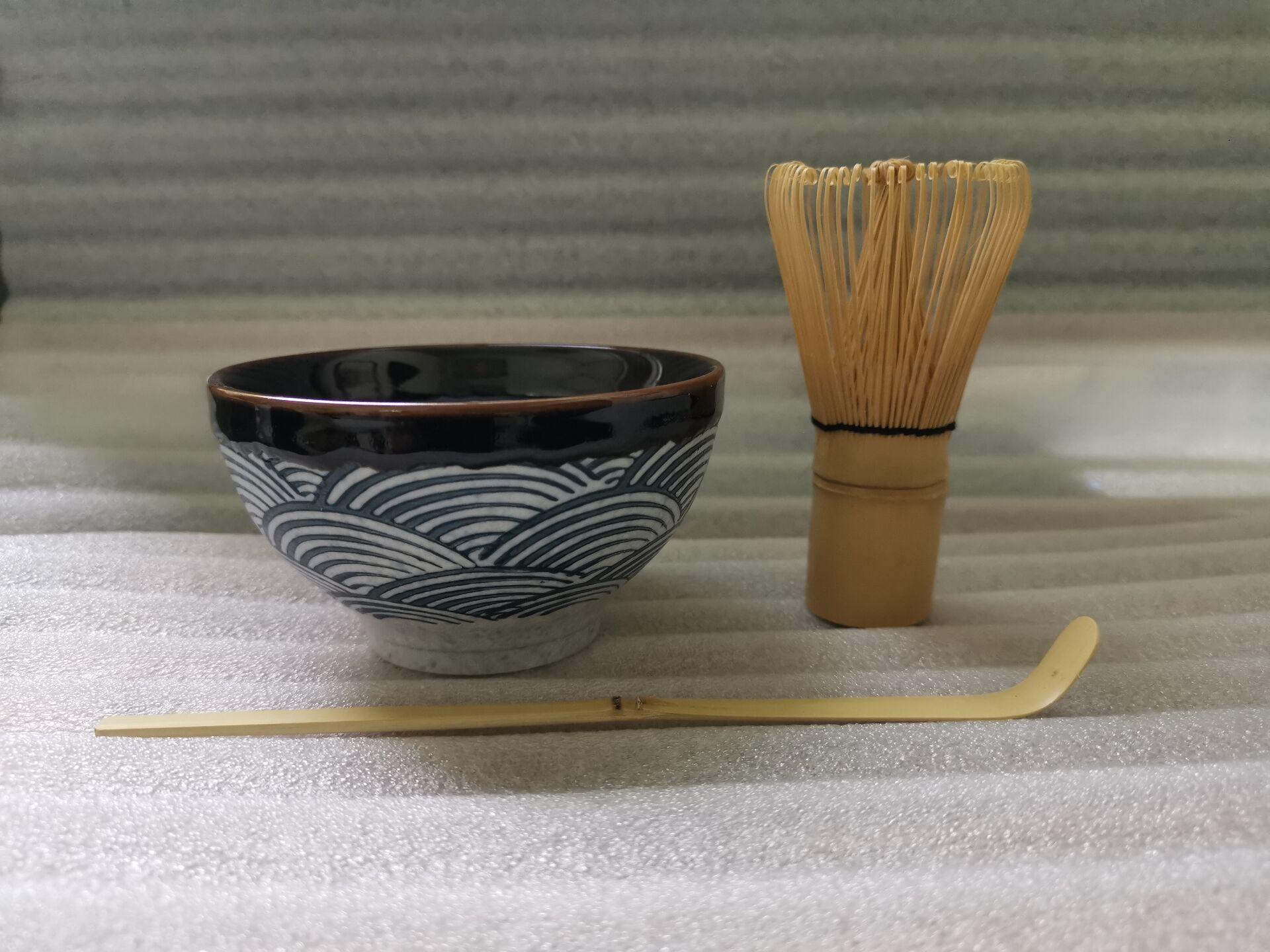 السيراميك ماتشا مجموعات الطبيعية الخيزران ماتشا خفقت السيراميك ماتشا السلطانية خفقت حامل أطقم شاي اليابانية