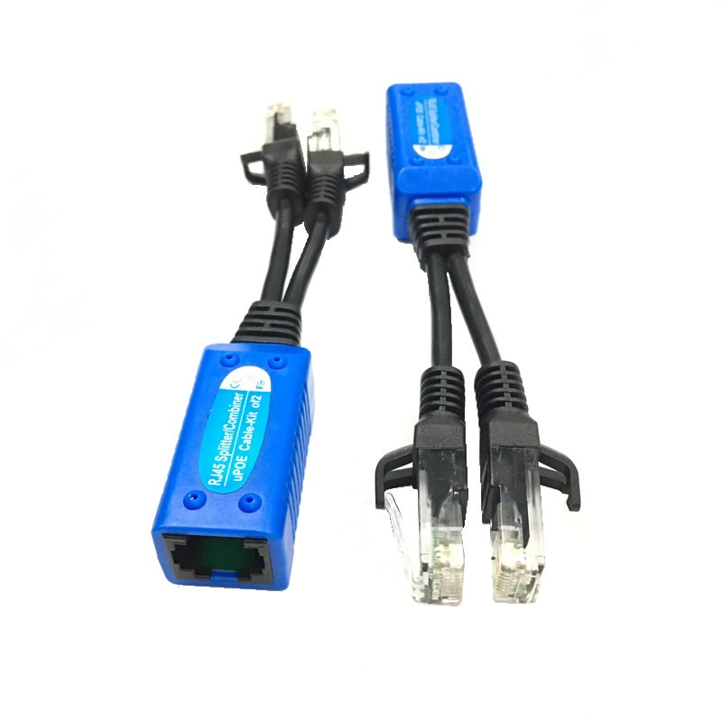 5 Piars poe injector combiner uPOE cable two POE camera use one net poe splitter Connectors Passive Power Cable enlarge