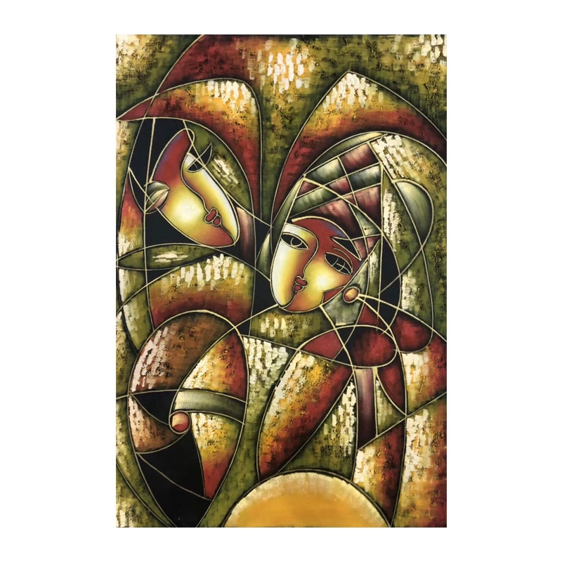 Kowell 100% pintados à mão picasso estilo abstrato pintura a óleo sobre tela arte presente decoração da casa sala de estar arte da parede imagem sem moldura
