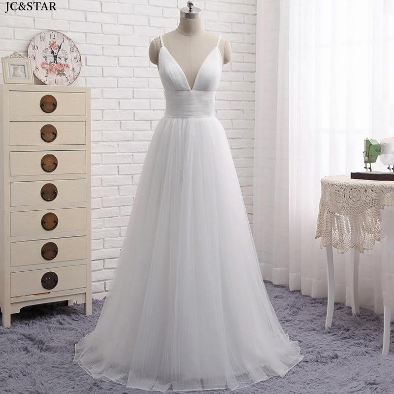 Vestido de novia de estilo bohemio, traje de tul con tirantes finos,...