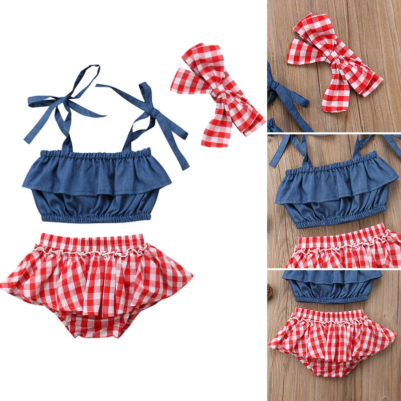 Pantalones cortos de mezclilla sin mangas de verano para bebés y niñas de 0 a 3 años