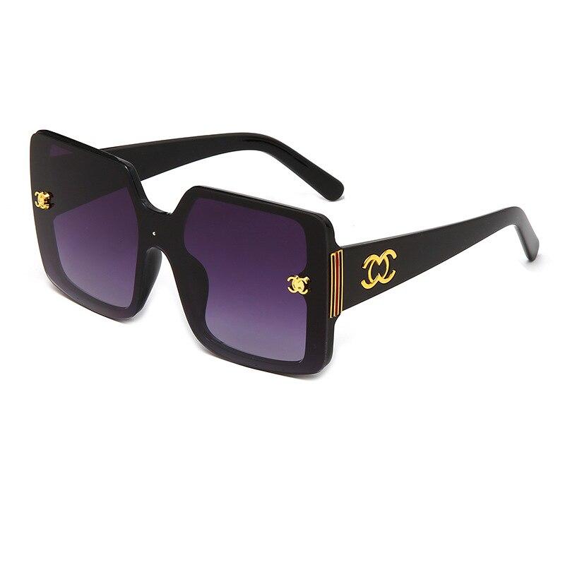 Очки 2021 модные очки мужские большие солнцезащитные очки в металлической оправе женские модные классические декоративные очки