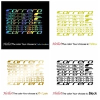 compatible carrera vinyl decal stickers sheet bike frame cycle cycling bicycle