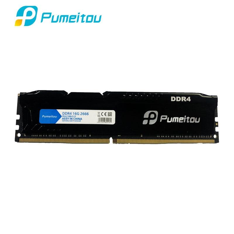Pumeitou AMD Intel RAM DDR4 4GB 8GB 16GB 2133 2400 2666 MHz Memoria Desktop Memory 288pin 1.2V New RAMs