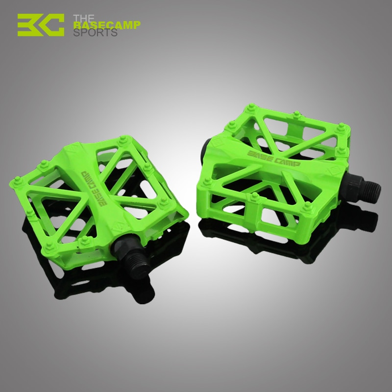 BaseCamp Mountain Bike Pedals Ultralight Aluminum Alloy Bicycle Pedals Bearings Cycling Pedals Mountain Bike Folding Bike Pedals mountain bike bicycle pedals cycling aluminium alloy pedals bicicleta mountain bicycle pedal flat xc tr am fr dh koozer pd50