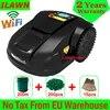 Th 6th Generation WiFi Appมินิหุ่นยนต์หญ้าตัดE1800Tพร้อม6.6ahแบตเตอรี่ลิเธียม200Mลวด200Pcsหมุด15Pcsใบมีด