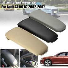 Compartimento central para coche de cuero de reposabrazos para Audi A4 A4L B6 B7 4 puertas 2002, 2003, 2004, 2005, 2006, 2007