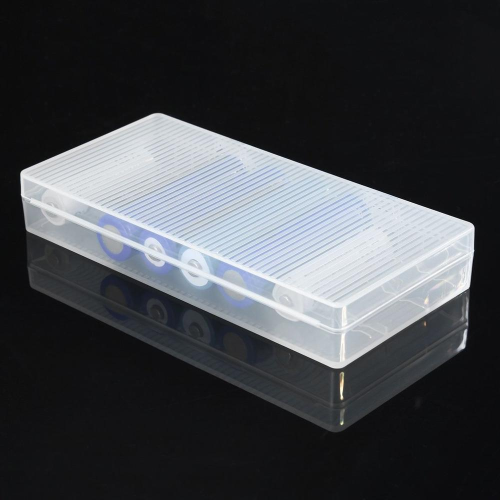 Funda de plástico duro con soporte para batería de 18560 transparente para 8 Uds. 18650 baterías fácil de llevar
