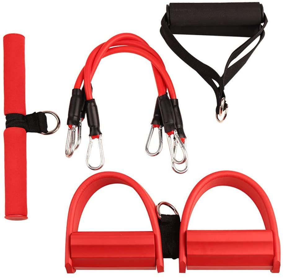 Трехтрубная эластичная Тяговая веревка, тренажер Rower для живота, домашняя спортивная лента для тренировок, эластичные ленты для фитнеса