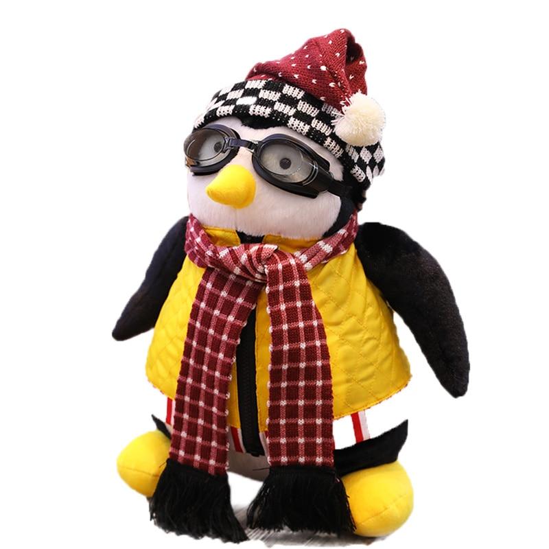 Bonito 27-47cm pinguins em torno de amigos brinquedos de pelúcia amigos hugsy sério moda bonito pinguins brinquedos de pelúcia rachel brinquedos de pelúcia