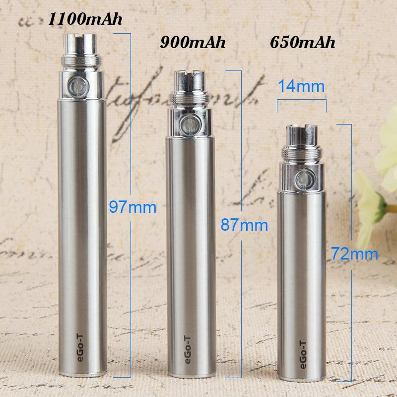 5Pcs Ego-T 900mAh Electronic Cigarette Battery 510 Thread Vape Pen For CE4 CE5 Evod MT3 H2 T3S Atomizer CBD Cartridges Vapes enlarge