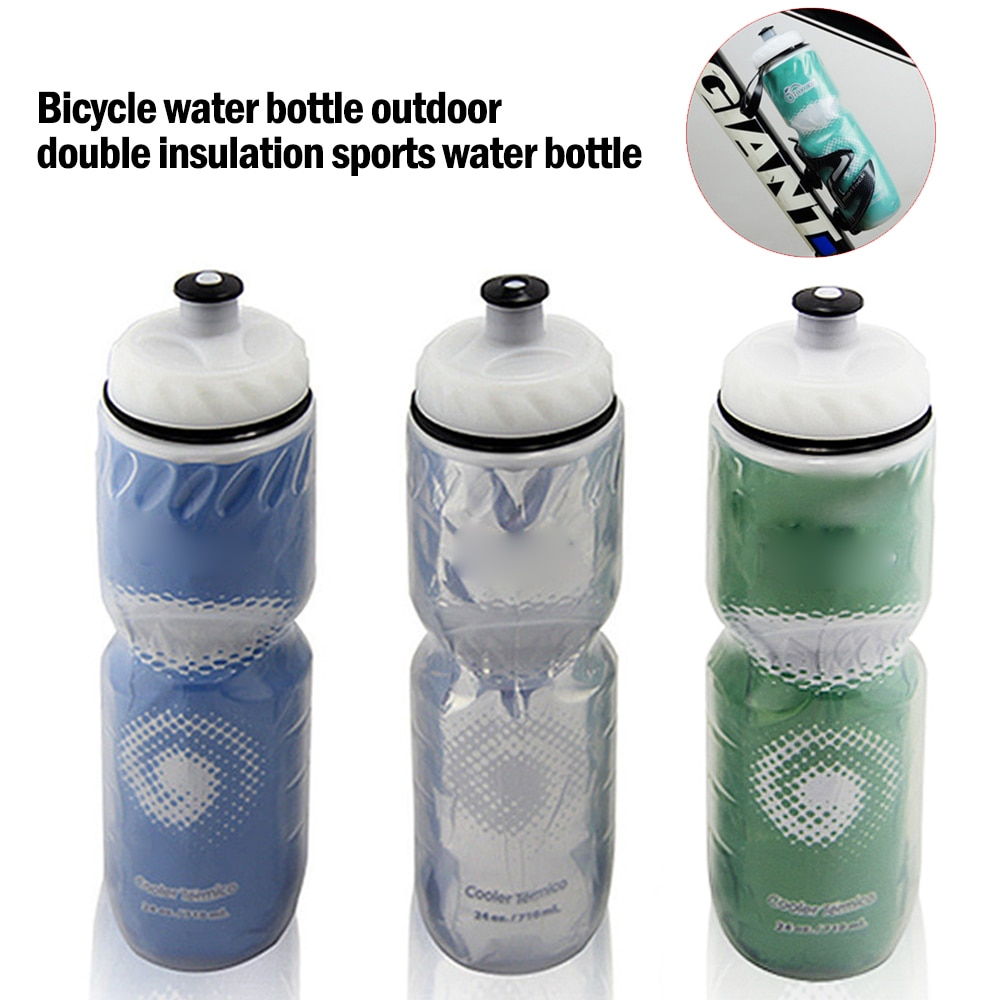 Bicycle Water Bottle Outdoor Cycling Water Bottle Cycling EquipmentDual Layer Thermal Keeping Sport