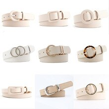 12 Styles Women Belts Luxury Brand Double Circle Buckle PU Leather Waist Strap Jeans Trousers Casual