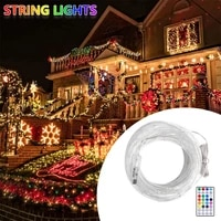 10m fairy string lights christmas remote control colorful synchronous wedding party garden decoration usb led outdoor waterproof