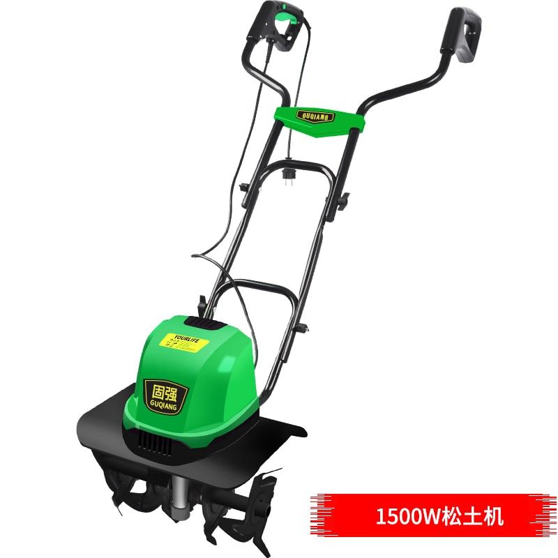 TLEG-01A Mini Tiller Electri Plough Machine Cultivator Scarifier Garden Household Soil Ploughing Digging Loosening Equipment