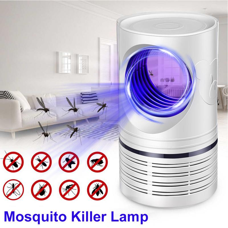 LED Lamp USB Recharge White Mini Portable Insect Trap Home Office Pest Control Mosquito Killer Repel